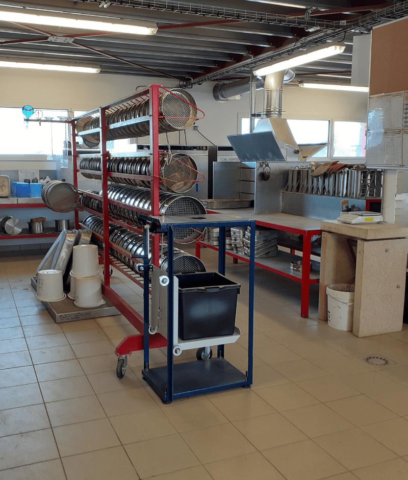 Interieur laboratoire routier AGIR