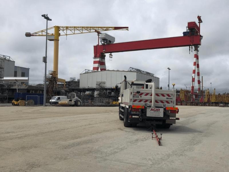 essai plaque statique chantier naval saint nazaire | AGIR Laboratoire